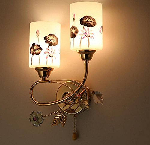 Nachttisch-Wandleuchte Schlafzimmer Europäischer Stil Einfacher amerikanischer Stil Heiratsraum Gang-Treppe Led Wandleuchte E27 , 5W ,...