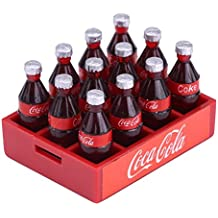 Dilwe Paquete de Botellas Plásticas de Coke Accesorio de Decoración para 1/10 RC Crawler