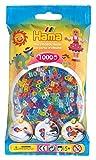 Hama 207-54 - Bügelperlen im Beutel, ca. 1000 Stück, glitzer-Mix -