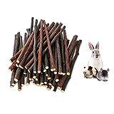 200 g (7 oz) Apple Palos, Natural Apple Branch Pet Aperitivos Juguete del Chew, Molar y rechinamiento de Dientes de Juguete para pequeños Animales Conejos, Chinchillas, Hamsters, Conejillos de Indias