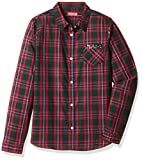 Bare kids Girls' Shirt (BJG-AW16-BLS-1572_Red_15 - 16 years)