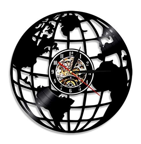 rld Travel Moderne Dekorative Schallplatte Wanduhr Diese Uhr Ist EIN Einzigartiges Geschenk Für Ihre Freunde Kein Led-Licht 12 Zoll ()