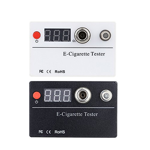 KKmoon E-Zigarette Ohm Reader Meter Widerstandsspannungsprüfer 510 Gewinde für Zerstäuber Zigarette Zubehör