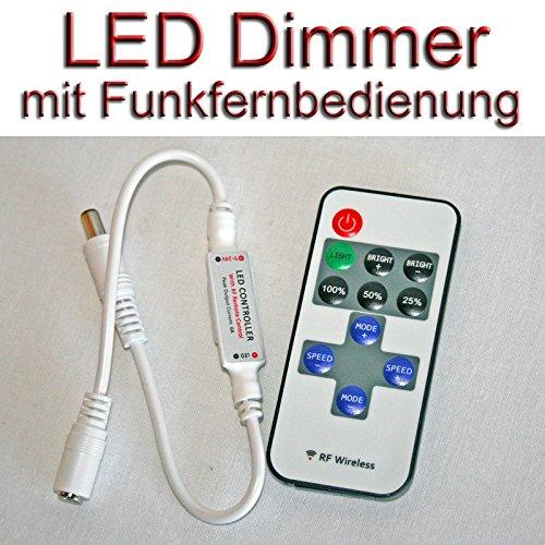 Dc Fernbedienung 24v (LED Dimmer 5 - 24 Volt DC 6A mit Funk Fernbedienung)