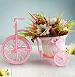 Tied Ribbons Cycle Shape Flower Vase with Artificial Flower Bunch