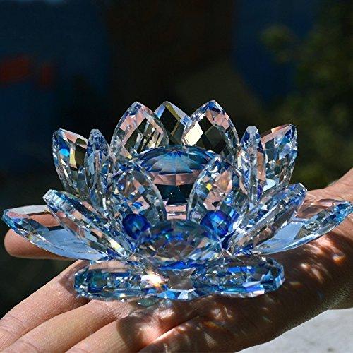 Bouquet de fleurs de lotus en cristal - Grande taille -...