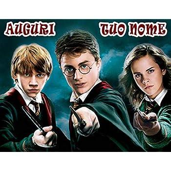 WFWD Cialda in Ostia per Torta Rettangolare Harry Potter Personalizzata,  Supereroe, Supereroi, Telefilm