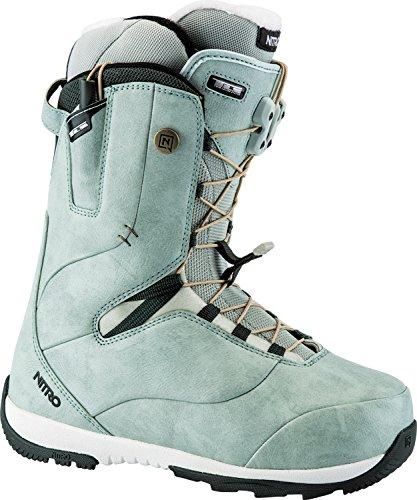 Nitro Snowboards Damen Crown Tls'18 Snowboard Boot, Green, 25 (Burton Boots Womens Boa Snowboard)