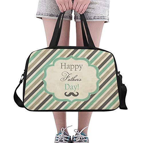 Plosds Glücklicher Vatertags Dank Vati großer Gymnastik Totes Eignung Handtaschen Reise Seesäcke mit Schultergurt Schuhbeutel für Übung Sport Gepäck für die Frauen der Frauen im Freien