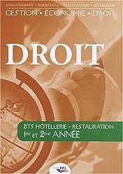 Droit BTS Hôtellerie-Restauration 1re et 2e année