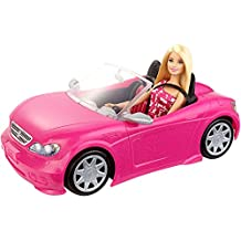 Barbie DJR55 - Poupée Barbie et cabriolet Rose