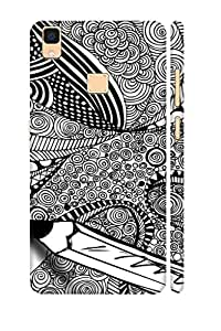 AMAN Draw of Hypnotize 3D Back Cover for Vivo V3