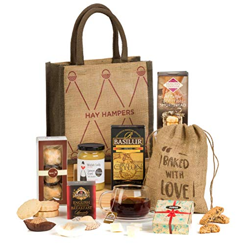 Hay hampers, il tè delle 5 - cesta regalo di natale con dolci tradizionali inglesi