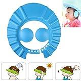 Baby Shampoo Cap Augenschutz Dusche Badeschutz weicher Kappen Hut für Haare Waschen Baby Kinder (Blue)