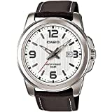 Casio Mens Quartz Brown Leather Dress Watch MTP-1314L-7