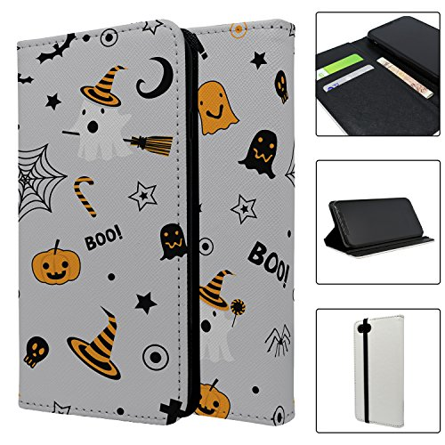 Halloween Muster Full Flip Schutzhülle für Apple iPhone 5–5S–SE–S4012