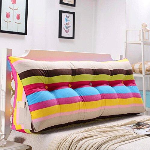 SUN ll-Rückenlehne Sofa Bett Große Gefüllte Dreieckige Keil Kissen Schlafzimmer Bett Rückenlehne Kissen Lesekissen Büro Lendenkissen Mit Abnehmbarem Deckel ( Farbe : K , größe : 60cm ) (Kissen Sun)