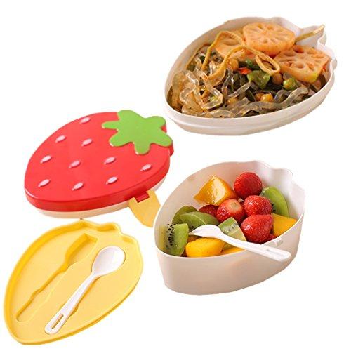 Oldpapa bambini scatola di pranzo carina, scatole bento lunchbox porta pranzo con cucchiaio e forchetta, contenitore da alimenti, multiuso a casa e all'aperto