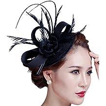 Kapmore tocado de plumas de pelo Clip novia nupcial boda Headwear