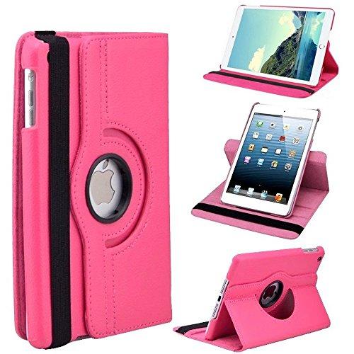 Preisvergleich Produktbild W GiXa Schutz Tasche für Apple iPad 2 3 4/iPad Mini 1 2 3 4/iPad Pro/iPad 5 Air/iPad 6 Air 2 Tasche Schutz Hülle Etui 360° Drehbar + 4 fach Standfunktion (für iPad 6 Air 2, Pink/Rosa)
