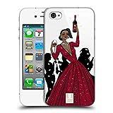 Head Case Designs Schwarze Frau In Einem Roten Kleid Wein Fest Ruckseite Hülle für iPhone 4 / iPhone 4S