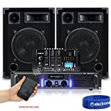 Does not apply Pair Max-10 Party DJ Speakers & Amplifier & Vexus Bluetooth MP3 USB Mixer 500W