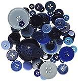 Papermania 250g, sortiert Button Pack, blau