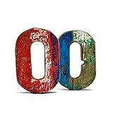 Fantastik - Letra de madera reciclada (O)