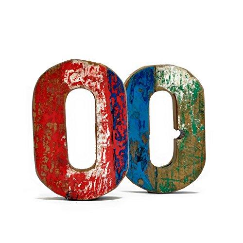 Letra O de madera reciclada - Fantastik