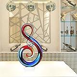 Tooarts Nota Musical Escultura de Vidrio Decoración del Hogar Regalo Abstracto del Ornamento Decoración de Artesanía