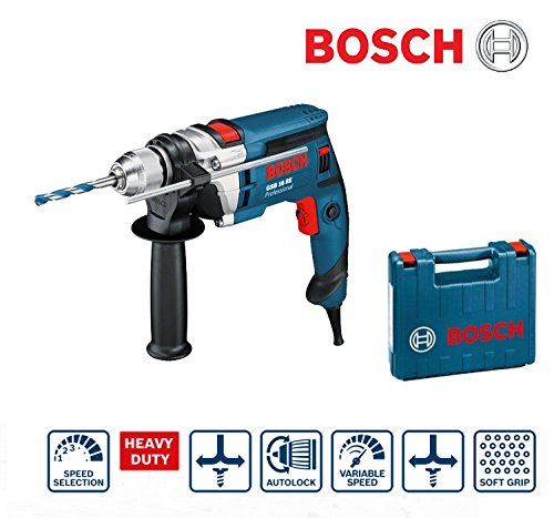 Trapano elettrico battente autoserrante professionale 750W in valigetta Bosch Professional - GSB 16 RE