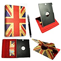 Kamal StarŽ Samsung Galaxy Tab S2 9.7 (SM-T810 / LTE SM-T815) Smart Book Cover Case - Ultra Slim Light Weight Stand Supports 3 Viewing Angles with Auto Sleep/Wake Feature + Free Stylus (Vintage British Flag 360)