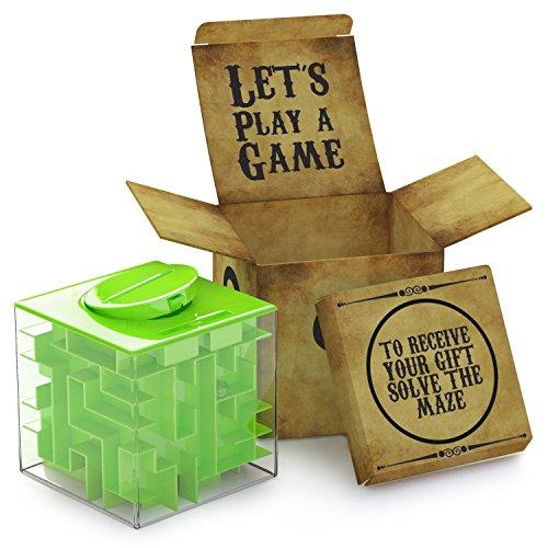 aGreatLife® Labyrinth Spardose - Geldgeschenke Verpackung Geburtstag - Geldlabyrinth - Spardosen Rätselbox - Geldgeschenk Labyrinth - Money Maze - Knobelspiele für Kinder - Scherzartikel - Denkspiel