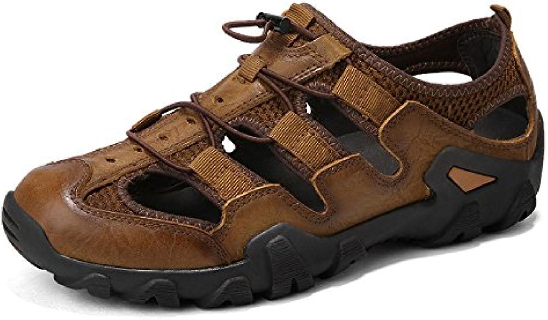 Sandalen Mode Baotou Beach Schuhe Casual Herrenschuhe Brown 38Sandalen Baotou Schuhe Herrenschuhe Brown 38 Billig und erschwinglich Im Verkauf