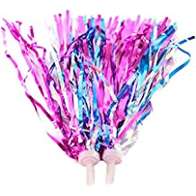 2 pcs Colorful Kids Bike Handlebar Streamers Ribbon Sparkle Tassel for Bicycle Scooter