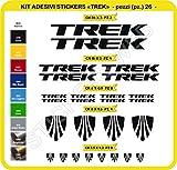 Adesivi Bici TREK Kit adesivi stickers 26 Pezzi -SCEGLI SUBITO COLORE- bike cycle pegatina Cod.0115 (Nero cod. 070)