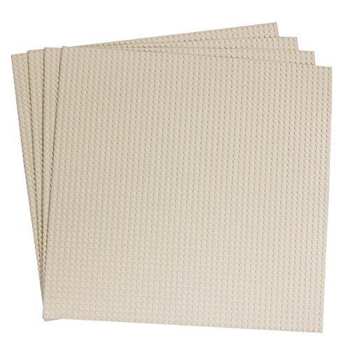 """Preisvergleich Produktbild Strictly Briks 15. 75 """"x 15. 75"""" White Construction Fußplatten - 4er Pack Bundle - kompatibel mit allen gängigen Marken"""