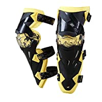 Zhangcaiyun Rodilleras Almohadillas Protectoras para la Rodilla Adulto Transpirable Ajustable de Fibra de aramida Motocross MTB espinilleras para Montar Ciclismo Patinaje Esquí Protector
