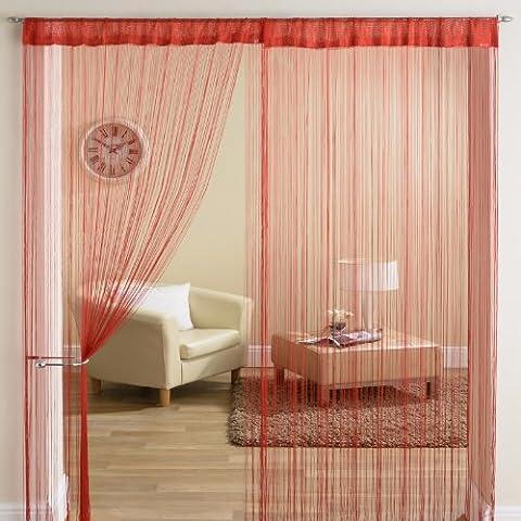 Fil rouge classique à franges avec Panneau de séparation pour rideau de porte ellipse - 90 x 200