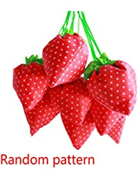 Ausing Strawberry Folding Reusable Compact Eco Recycling Use Shopping Bag