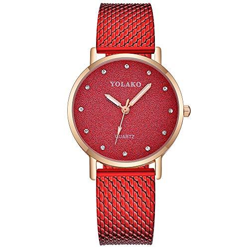 YEARNLY Armbanduhr für Damen Marmor-Zifferblatt Uhr mit Armband