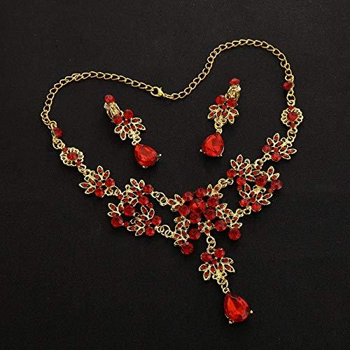 Shukun Halskette Brautschmuck Braut Luxus Luxus Strass Kragen Hochzeitskleid Zubehör Halskette Kurz...