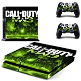 Playstation 4 + 2 Controller Aufkleber Schutzfolie Set - Call of Duty Modern Warfare 3