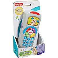 Fisher-Price DLD30 Laugh and Learn Puppy's Remote, Electronic Educational Toddler Toy with Music, Lights, Colours and Phrases, Suitable for 6 Months Plus