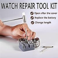 Watch Repair Kit,OUTAD Repair Table Tools Watch Repair Kit Professional Practical Multi-function Tool-Clock Plastic Packaging With Hook 16-Piece