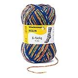 REGIA 6-fädig Color 9801285-06099 bright blau Handstrickgarn, Sockengarn, 150g Knäuel