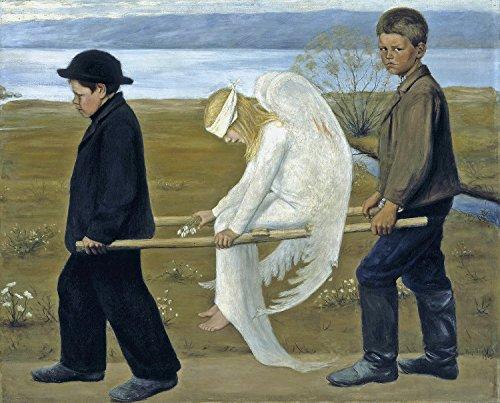 The Wounded Angel - By Hugo Simberg - Leinwanddrucke 24x19 Inch Ungerahmt