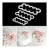 HBlife 3 DIY Rosen Ausstecher Fondant Cutters Essbaren Dekorationen Kuchen Dekorieren Gum Paste Blumen Rose Kit
