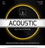 Gitarrensaiten Westerngitarre ☆ TESTSIEGER 2019¹ ☆ Premium Stahl Phosphor Bronze Saiten für Western-Gitarre & Akustikgitarre (6 Saiten-Set) + E-Book