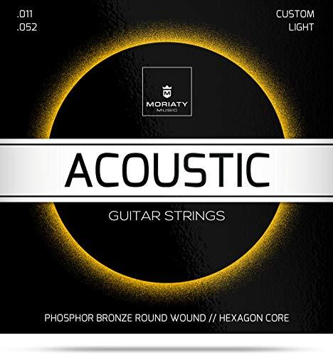 Gitarrensaiten Westerngitarre ★ TESTSIEGER 2019¹ ★ Premium Stahl Phosphor Bronze Saiten für Western-Gitarre & Akustikgitarre (6 Saiten-Set) + E-Book (E-gitarren-saiten Weich)